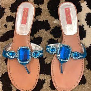 Betsey Johnson Turquoise Frey Sandal